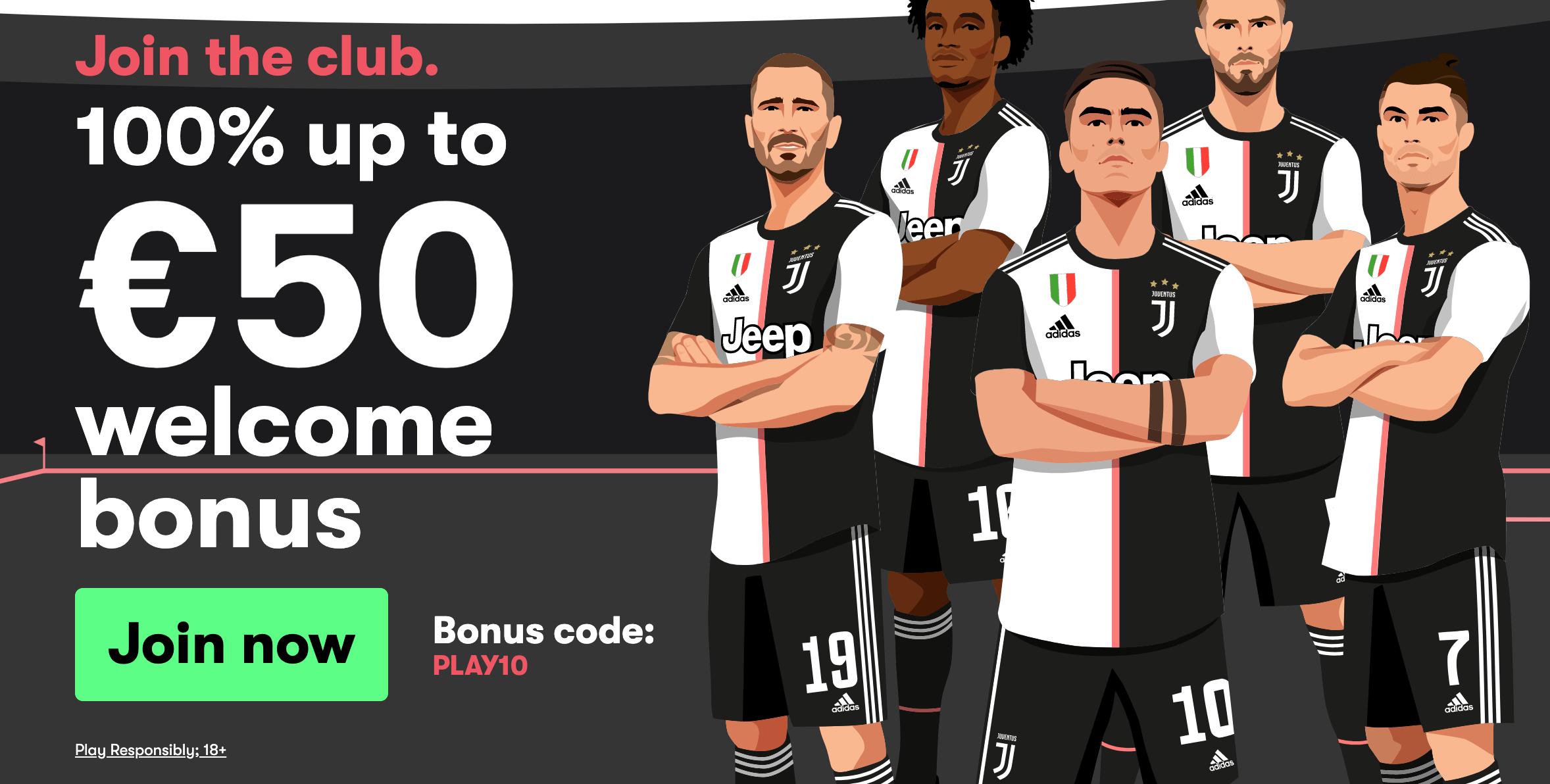 10bet welcome bonus