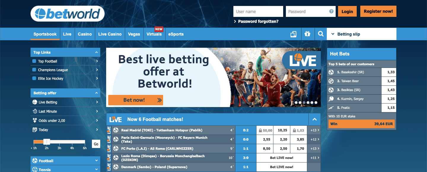 Betworld Screenshot
