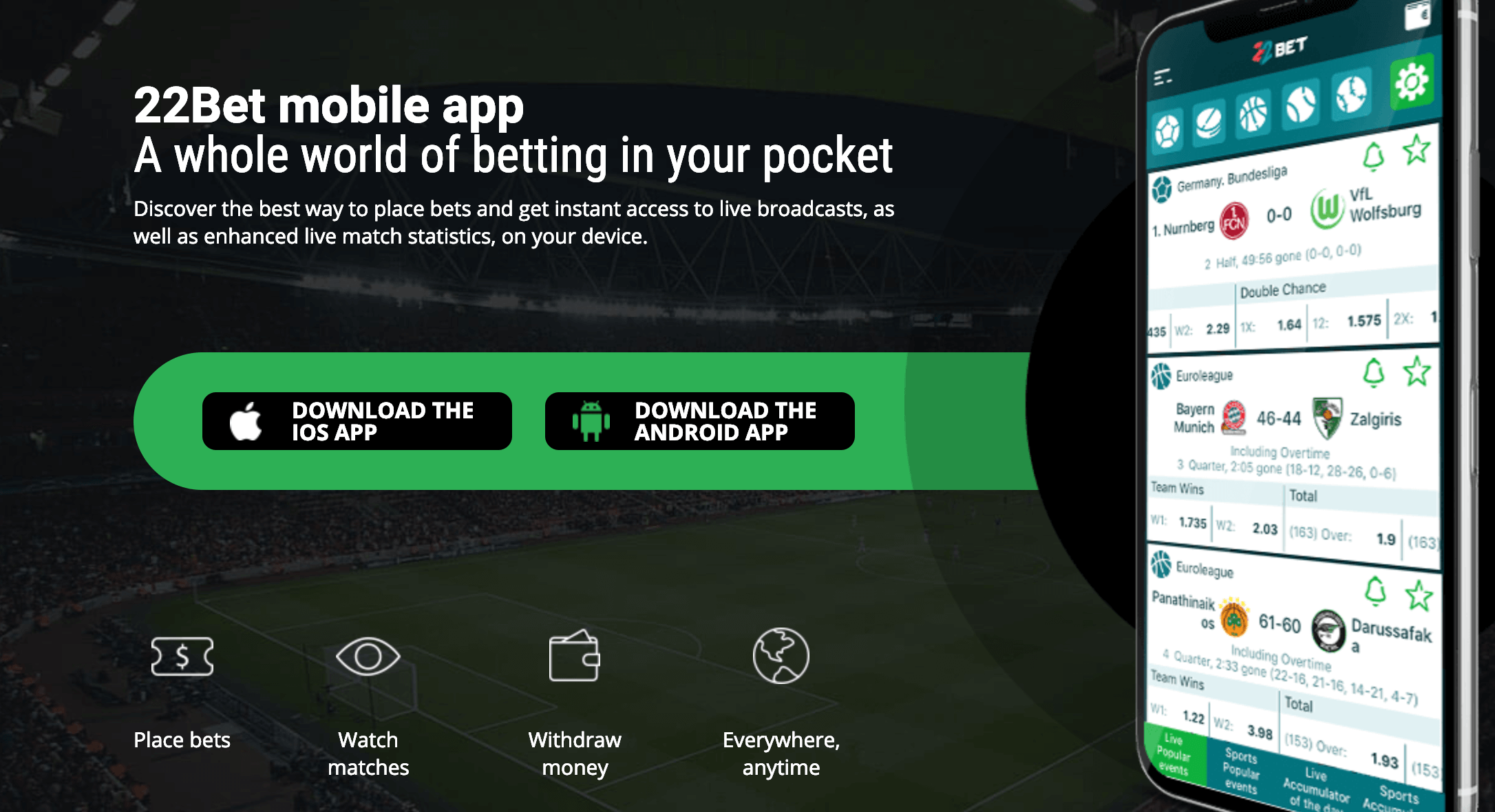 22bet Mobile Gambling