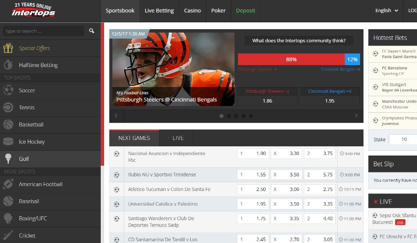 Intertops Screenshot