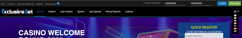 exclusivebet screenshot