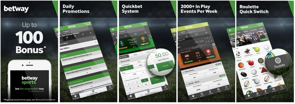 betway mobile platform and bonus