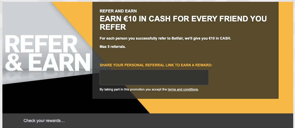 betfair bonus 10 cash free