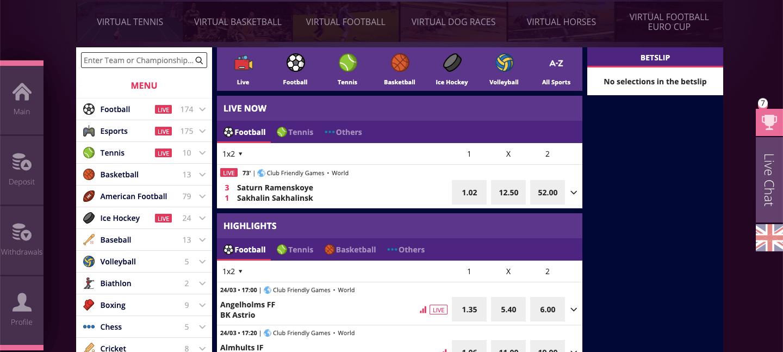 malinacasino betting