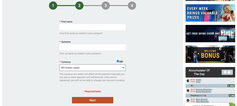melbet registration