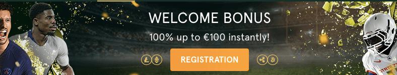Casinia welcome bonus