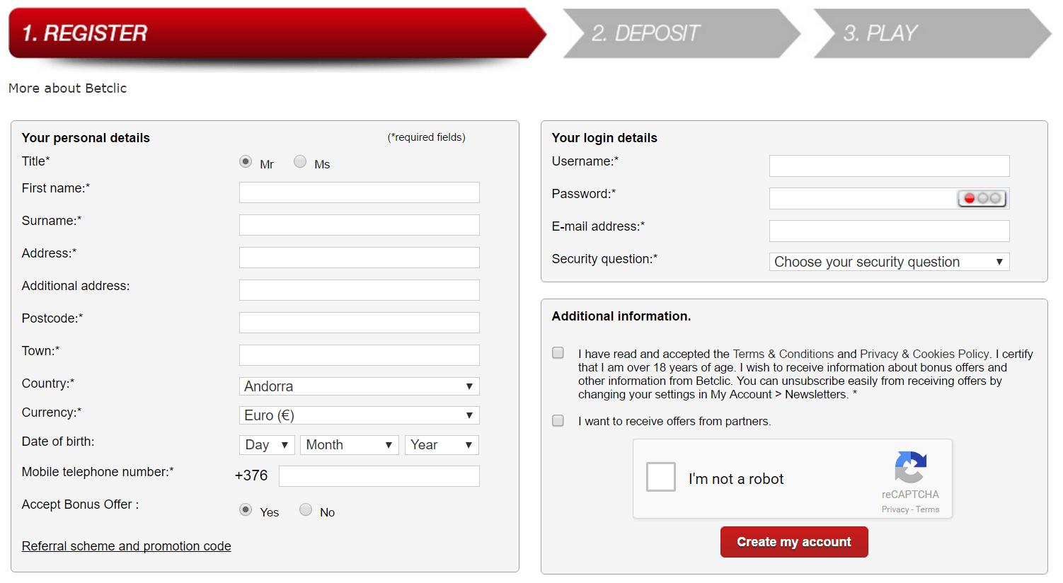 betclic registration