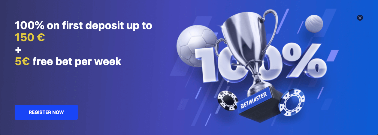 betmaster welcome bonus