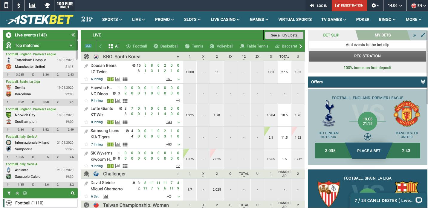 AstekBet Screenshot