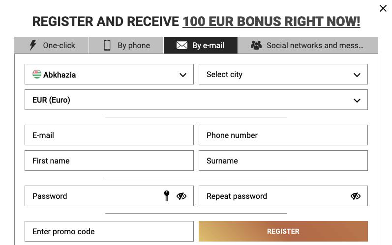 DoubleBet register