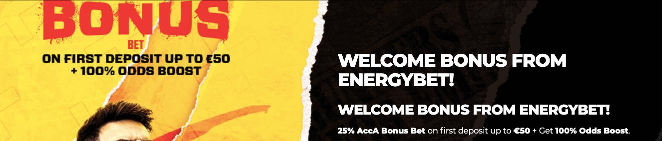 EnergyBet welcome bonus