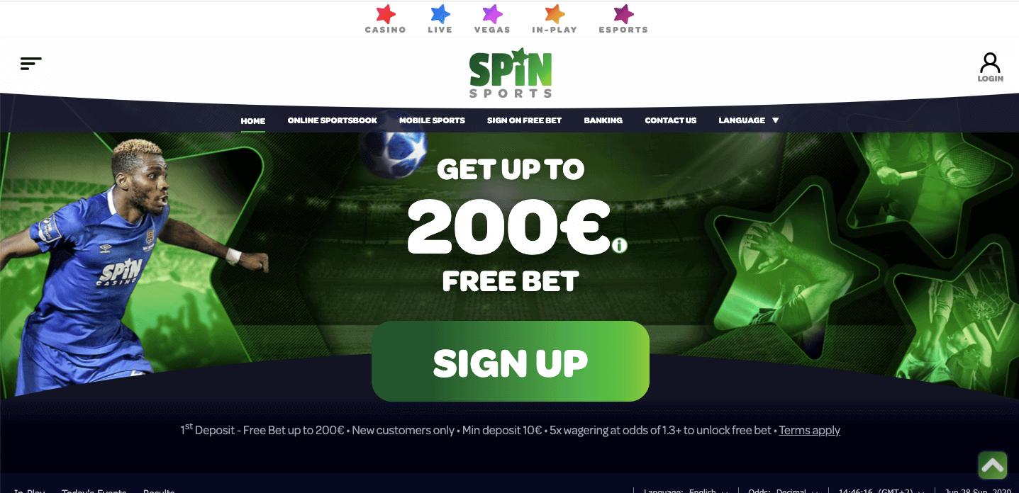 Spin sports Screenshot