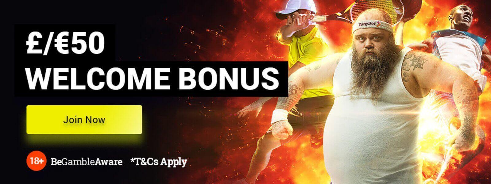 Tonybet welcome bonus