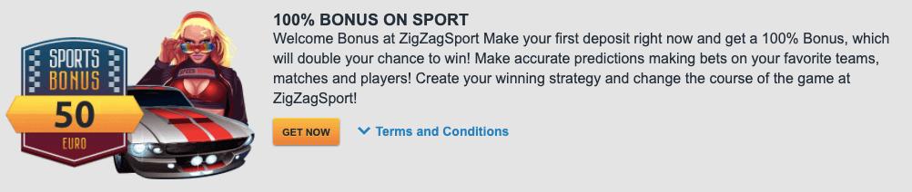 ZigZag welcome bonus