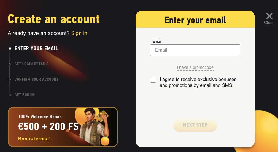 FezBet register
