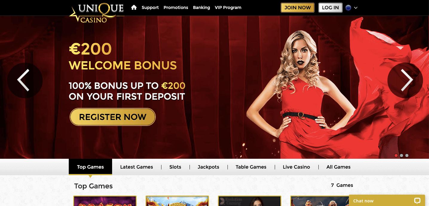 Unique Casino Screenshot