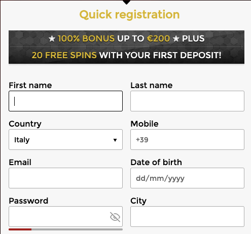 Unique Casino register