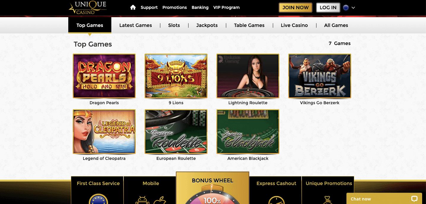 Unique Casino slot