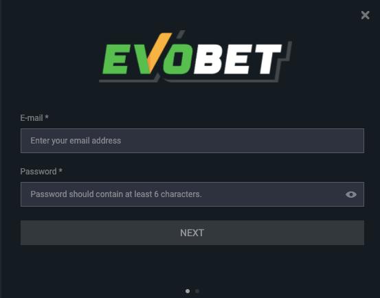 Evobet register