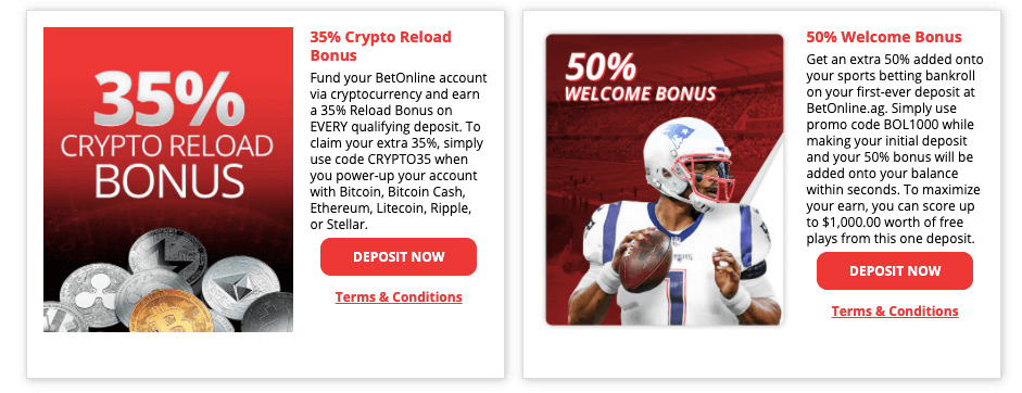 BetOnline.Ag Welcome Bonus