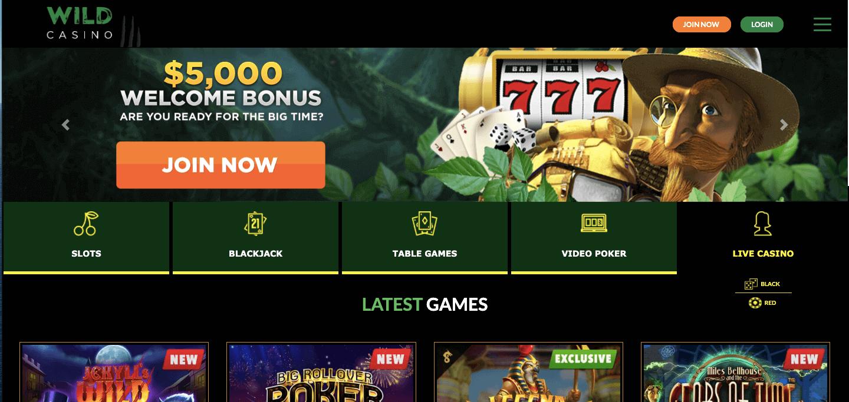 Wild Casino Screenshot