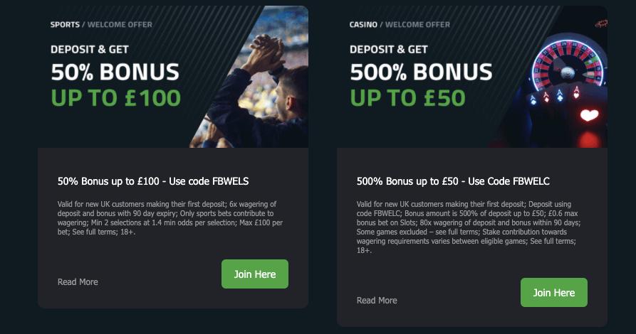 FansBet Welcome Bonus